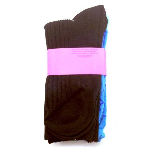 2 Pk BETSEY JOHNSON Casual Socks Ladies 9-11 Ahoy Lady/'s w// Black Sock