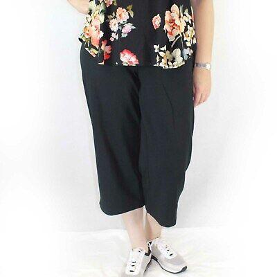 Jill Plus Size Navy Slim Leg Cropped Stretch Waist Pants 1X J