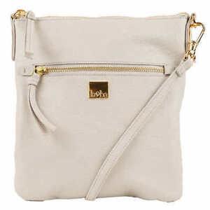 NEW-Kooba-Crossbody-Pebbled-Textured-Cream-Leather-Handbag-Bag-Purse