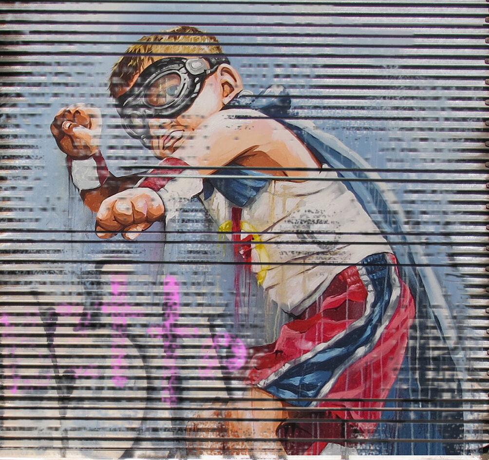 MASSIVE Graffiti Straße Kunst  Drucken Large Canvas Painting andy baker