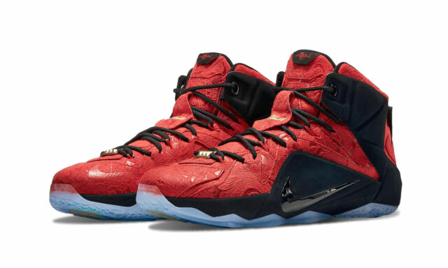 timeless design 4e7de 4d4d0 NIKE LEBRON XII 12 EXT 748861-600 University Red Black Men s Sneakers BRAND  NEW