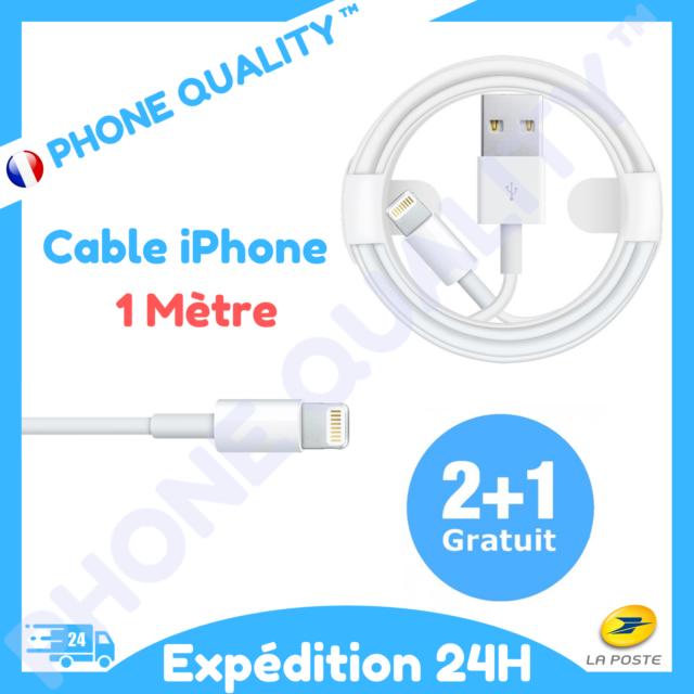 Chargeur câble USB Apple iPhone 5 6 7 8 X XR 11 Lightning 1M | 📦->24H