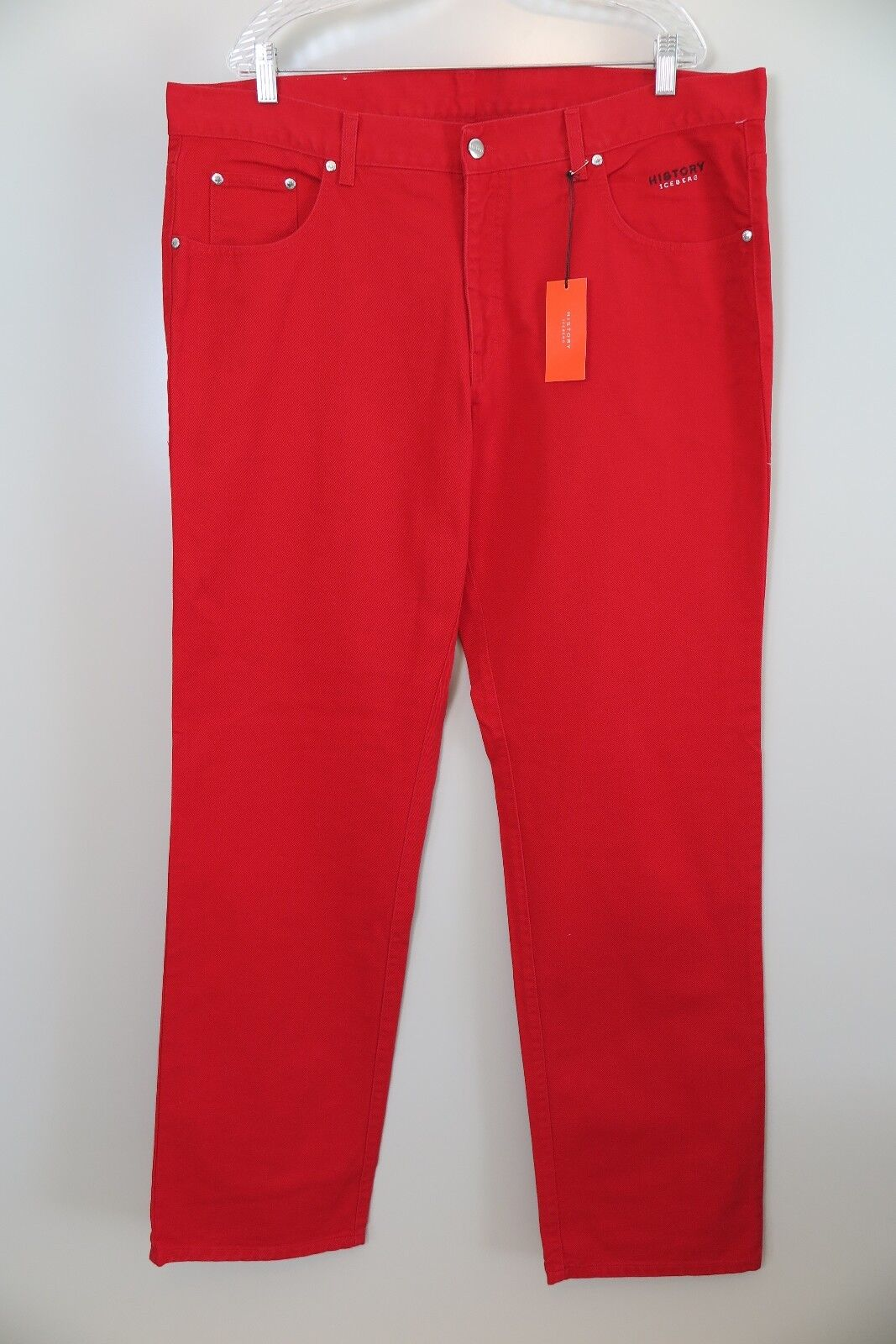 NWT History Iceberg Felix the Cat Red Jeans Size 40 (EU) Made in