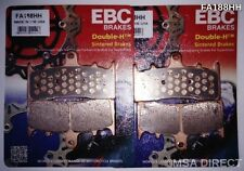 Suzuki GSXR1000 (2001 to 2002) EBC Sintered FRONT Brake Pads (FA188HH) (2 Sets)
