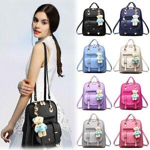 8686be39f0 HOT PU Leather Bag Satchel Shoulder School Bags Travel Backpack for ...