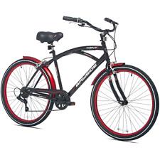 "26"" Men's Kent Bayside Cruiser Bike Shimano 7-speed Aluminum Frame Black New"