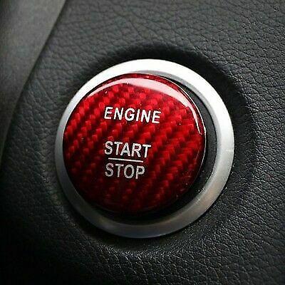 Red Carbon Fibre Mercedes Benz Keyless Go ButtonC A E ClassE63 AMG A45 C63