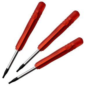 3x-Schraubendreher-T6-Torx-fuer-Handy-Nokia-Samsung-LG-iPhone-HTC-LCD-PDA-w4w