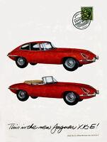 1961 Jaguar Xk-e Ad Replica 14 X 11 Photo Print