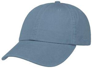 5735ddcfd7ff5 Stetson Baseball Cap Hat Rector Sun Guard Cotton 25 Light Blue Trend ...