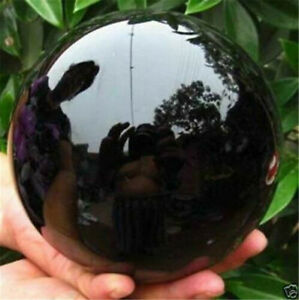 3CM-Rare-Natural-Black-Obsidian-Sphere-Magic-Crystal-Ball-Healing-Stone-Gemstone