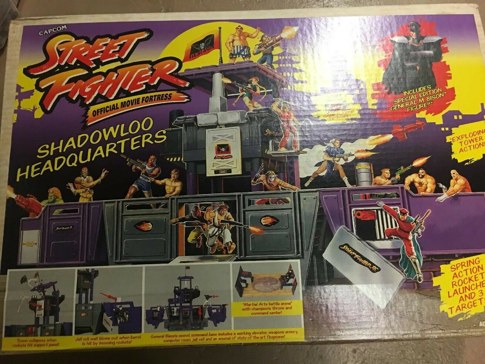 GI Joe ARAH Street Fighter Fighter Fighter Shadowloo Headquarters Sealed Box 1994 4fefac