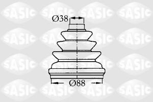 Faltenbalgsatz Antriebswelle getriebeseitig Sasic 2873803