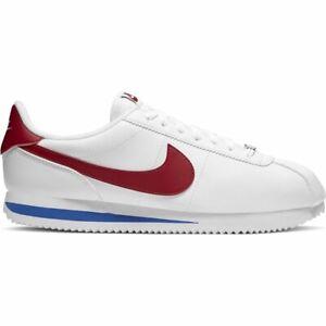 Detalles de Nike Cortez Basic Leather Zapatillas Blanco Hombre