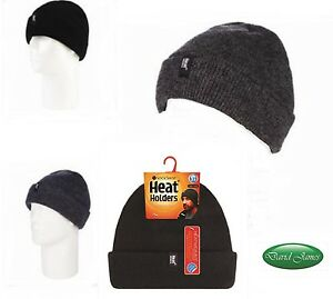 Mens Heat Holders 3.6 Tog Turnover Cuff Winter Warm Thermal Hat  230c1432a7ea