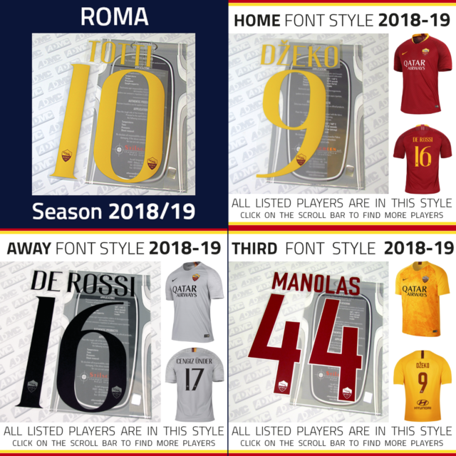 Totti 10 Gallery Style Italien Home Trikot 2018 2019