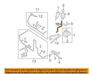 49725-EA005 Power Steering Return Hose Genuine Nissan