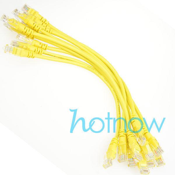 Lot 10 cables/ 8inch 21cm 568B CAT5E UTP Ethernet RJ45 Patch Cable Network Cable