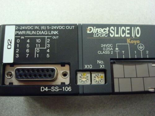 Koyo D4-SS-106 Direct Logic Slice I//O Module USED PLC DIrect