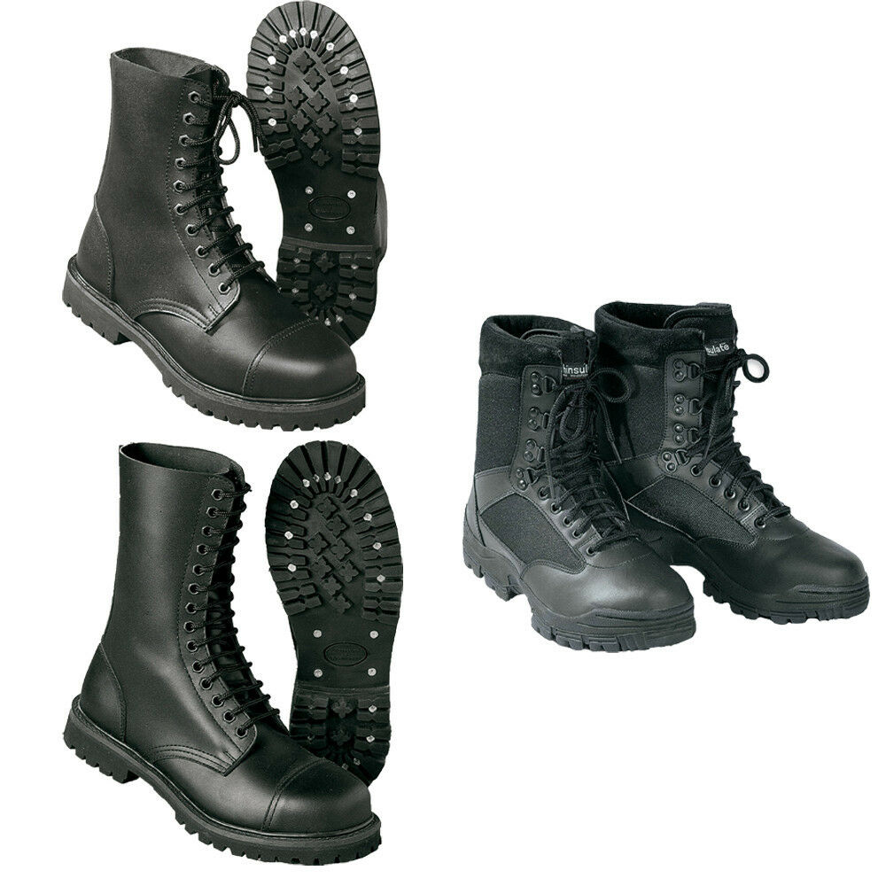Surplus Undercover Stivali SECURITY SCARPE STIVALI BOOTS PUNK PELLE NUOVO | Up-to-date Styling