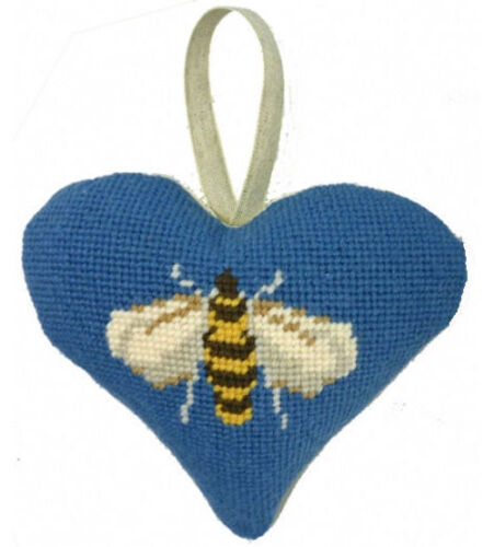 Cleopatra/'s Needle Bee Lavender Heart 12 Count Tapestry Kit Filling Not Included