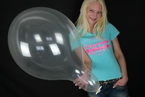 5-x-Tuftex-17-034-Luftballons-KRISTALLKLAR-CRYSTAL-CLEAR-TUF-TEX