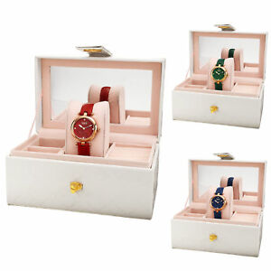 Women-039-s-Burgi-BUR309-Diamond-Leather-Strap-Watch-in-Jewelry-Gift-Box