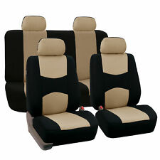 Seat Covers for Car Truck SUV Van Universal Fitmentment Beige Black