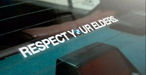 Respect-Your-Elders-BMW-Decal-EURO-Sticker-for-windshield