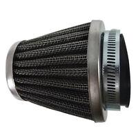 42mm Clamp On Air Filter W Chrome End Cap Suzuki Gt380 Gt550 Gs750 Gt250 Gs1000