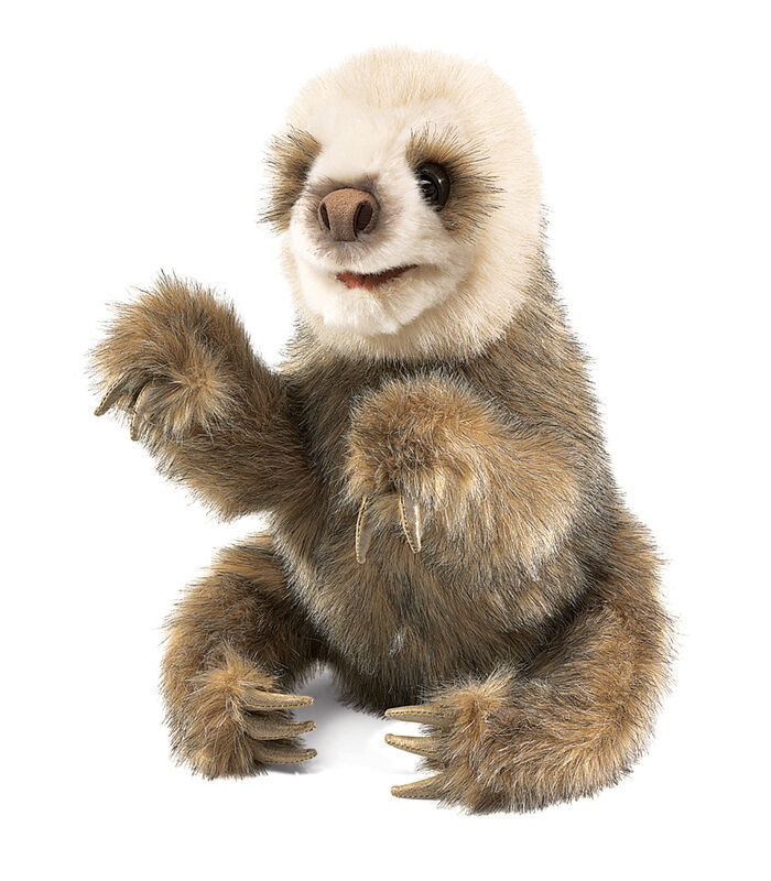NEW PLUSH SOFT TOY Folkmanis 2927 Baby Sloth Hand Puppet