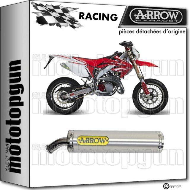 SILENCIEUX RACE ARROW ROUND ALUMINIUM HONDA CRM 125 1992 92