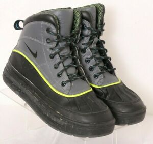 Nike-524872-002-ACG-Woodside-2-High-Gray-Winter-Lace-Up-Duck-Boots-Youth-US-4-5Y