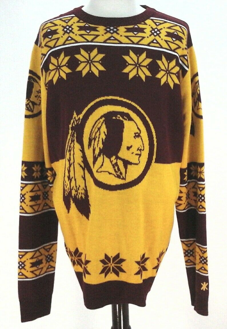 NFL Washington  Herren ROTskins Football Team Sweater Burgundy Gold XL EUC
