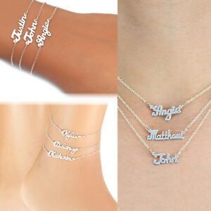 Personalized-Any-Name-Silver-and-Gold-Mini-Name-Plate-Necklace-Ankle-Bracelet