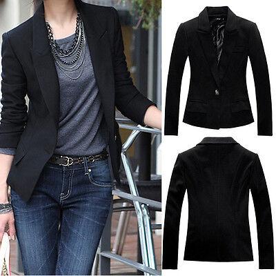 2015 NEW Women Slim Suit Blazer Coat Jacket Long Sleeve Business Outwear Trendy