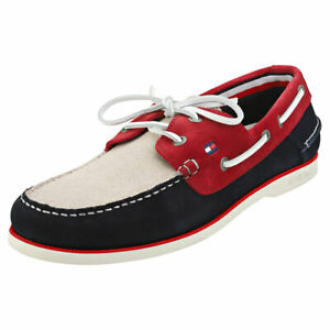 Tommy Hilfiger Mens Classic Suede Boat Shoes Brown