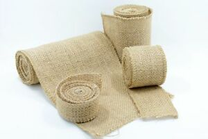 RED HESSIAN JUTE Fabric Sacking Table Runner Material Wedding Decor 150cm wide