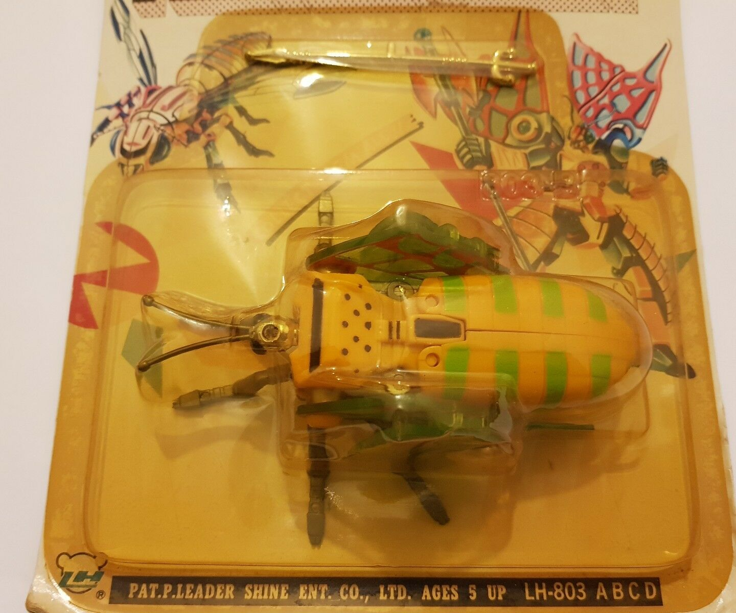 Vintage Figura Fighting Insect Insect Insect BUTTERFLY Transformable Robot Leader Shine NUEVA 8432fd