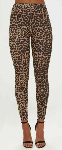 NUOVA linea donna leopardo Animal Print Donna Stretch piena lunghezza LEGGINGS PANTALONI 8-16
