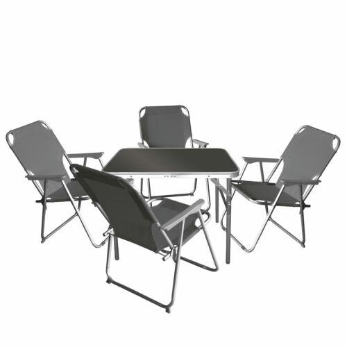 4x SEDIA PIEGHEVOLE STONE 5tlg mobili da campeggio-SALOTTO set tavolo da campeggio 75x55cm