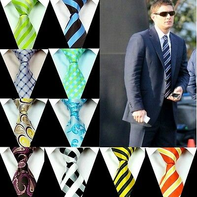 New Mens Neck tie 100% Silk Ties Groom Wedding Party Handmade Necktie FS55-83