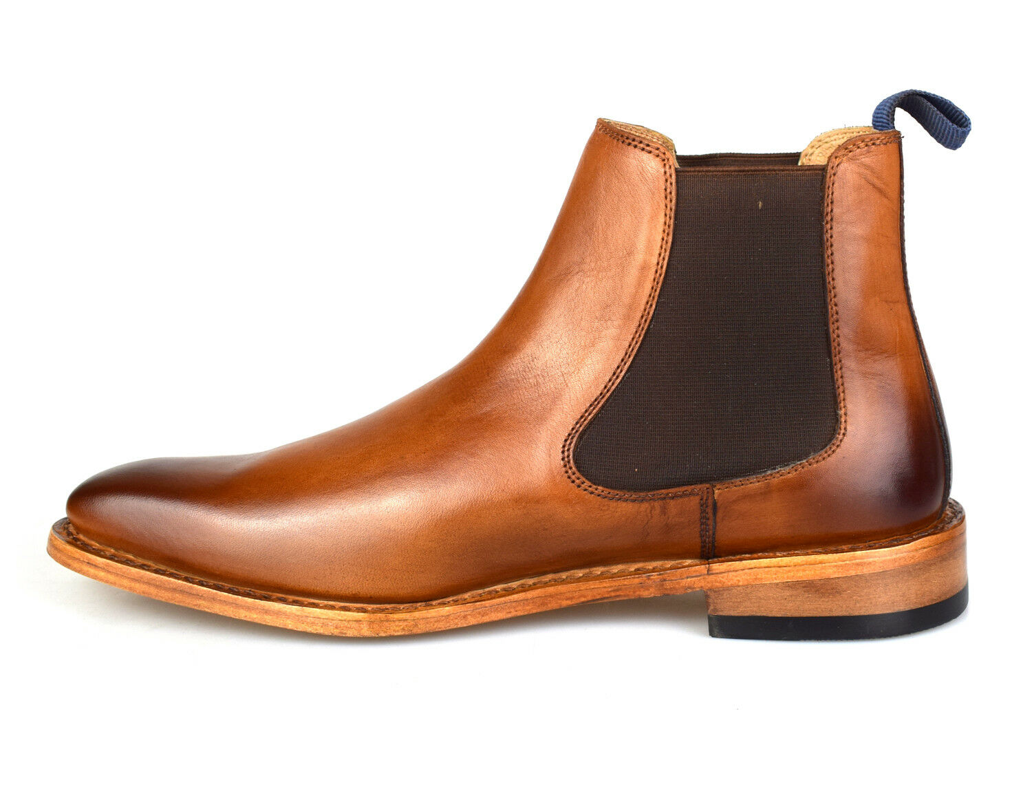Premium Goodyear Welted Mens Tan Leather Chelsea Stiefel 162T Free Free Free UK P&P 24f25d