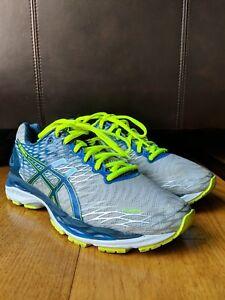 74032990 Details about ASICS Mens Gel Nimbus 18 Running Shoe Sneaker Blue/Gray SIZE  7.5 T600N