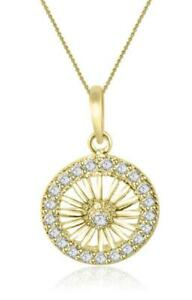 SI1-G-0-60-Ct-Natural-Diamond-Circle-Pendant-Necklace-14K-Solid-Gold-1-20-Inch