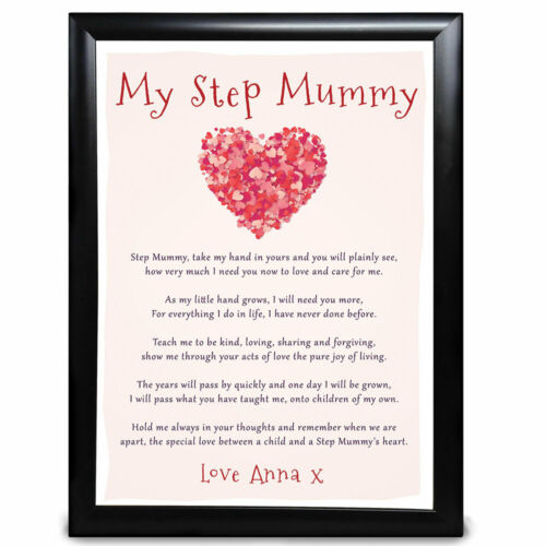 Personalised Dad Daddy Gifts Fathers Day Heart Poem Xmas Birthday Keepsake Name