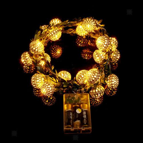 LED Morocco Ball String Light 2.2m Christmas Tree Decor Garland Fairy Light