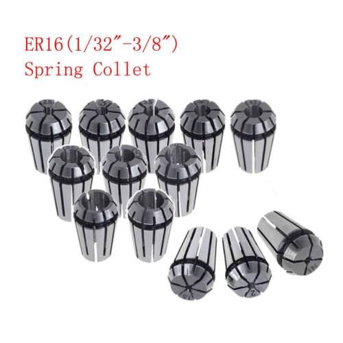 ER16 0.008mm Spring Collet Kit 12Pcs For CNC Milling Lathe Engraving Machine