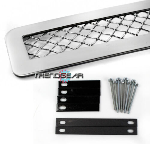 2007-2013 SUBURBAN TAHOE UPPER+TOW HOOK STAINLESS STEEL 1.8MM MESH GRILLE CHROME