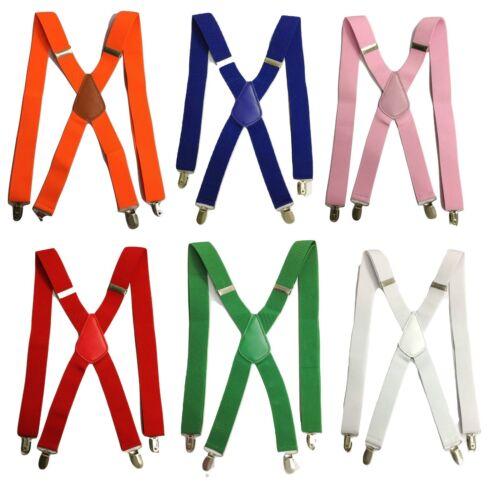 Standard Bretelle Da Uomo Donna Nero Reggicalze Elastico Durevole Pantaloni larghezza 3.5cm